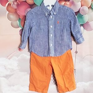 """Ralph lauren"" boy 2 pc set"